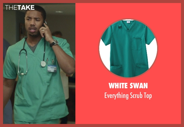White Swan green top from That Awkward Moment seen with Michael B. Jordan (Mikey)