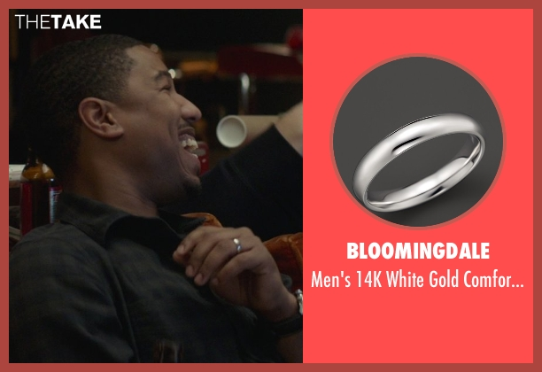 Bloomingdale silver band from That Awkward Moment seen with Michael B. Jordan (Mikey)