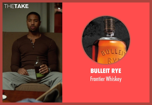 Bulleit Rye whiskey from That Awkward Moment seen with Michael B. Jordan (Mikey)