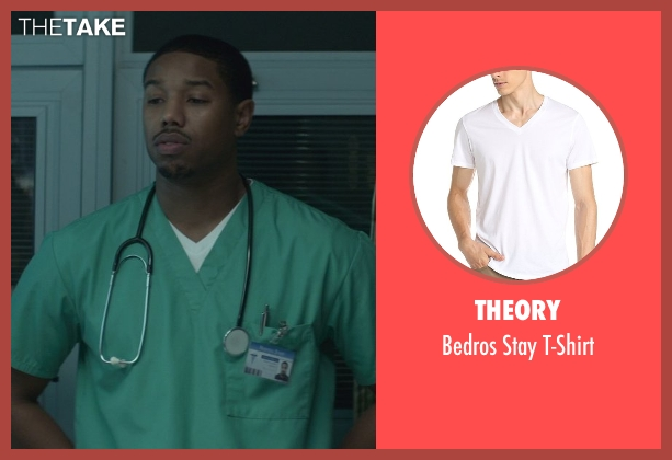 Theory white t-shirt from That Awkward Moment seen with Michael B. Jordan (Mikey)