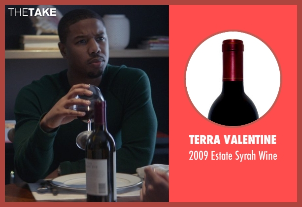 Terra Valentine wine from That Awkward Moment seen with Michael B. Jordan (Mikey)