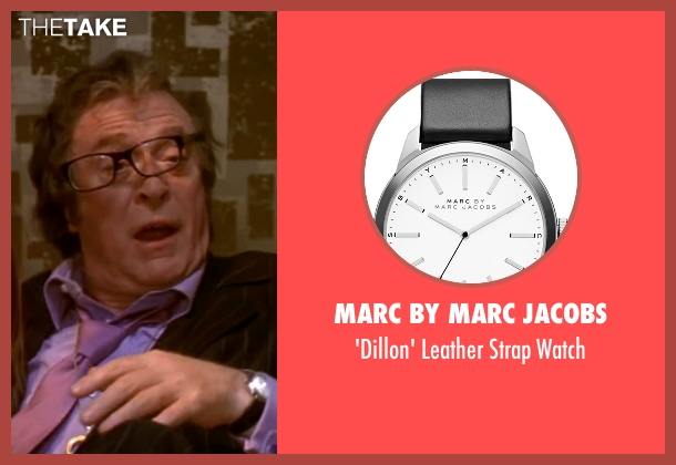 Marc By Marc Jacobs black watch from Austin Powers in Goldmember seen with Michael Caine (Nigel Powers)