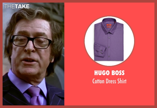 Hugo Boss purple shirt from Austin Powers in Goldmember seen with Michael Caine (Nigel Powers)