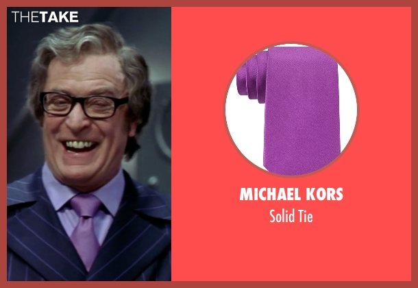 Michael Kors  purple tie from Austin Powers in Goldmember seen with Michael Caine (Nigel Powers)