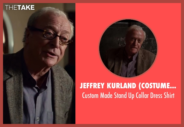 Jeffrey Kurland (Costume Designer) and Anto Beverly Hills (Tailor) gray shirt from Inception seen with Michael Caine (Miles)