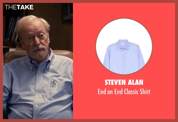 Steven Alan blue shirt from Interstellar seen with Michael Caine (Unknown Character)