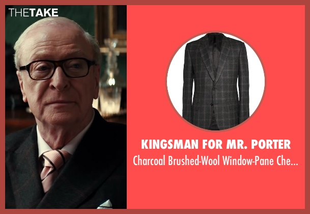 Kingsman for Mr. Porter black blazer from Kingsman: The Secret Service seen with Michael Caine (Arthur)