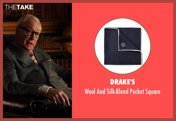 Drake's black square from Kingsman: The Secret Service seen with Michael Caine (Arthur)