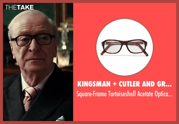 Cutler And Gross brown glasses from Kingsman: The Secret Service seen with Michael Caine (Arthur)