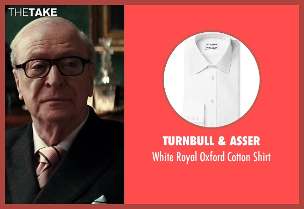 Turnbull & Asser white shirt from Kingsman: The Secret Service seen with Michael Caine (Arthur)