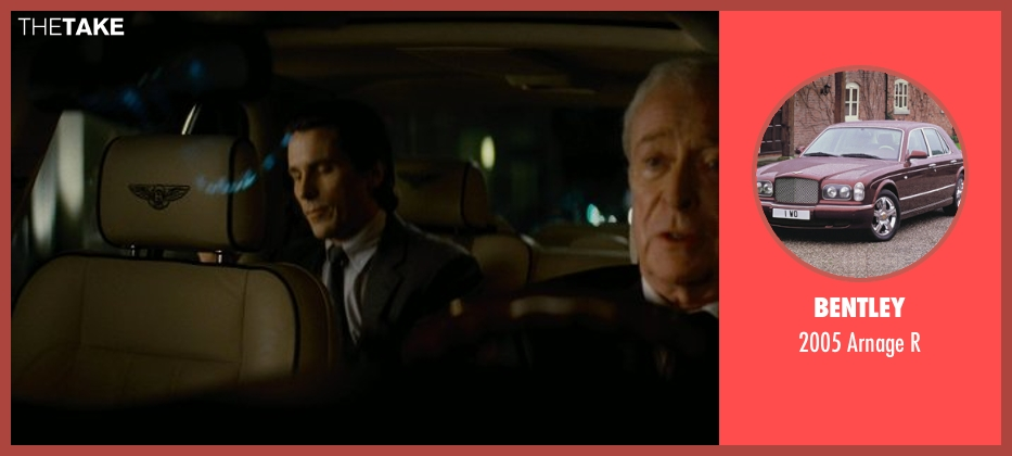 Bentley r from The Dark Knight Rises seen with Michael Caine (Alfred)