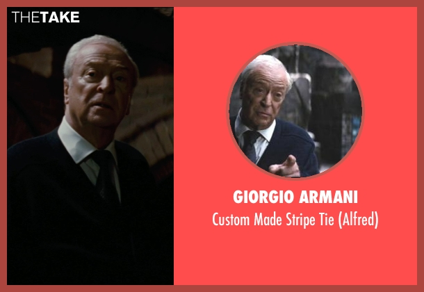 Giorgio Armani tie from The Dark Knight Rises seen with Michael Caine (Alfred)
