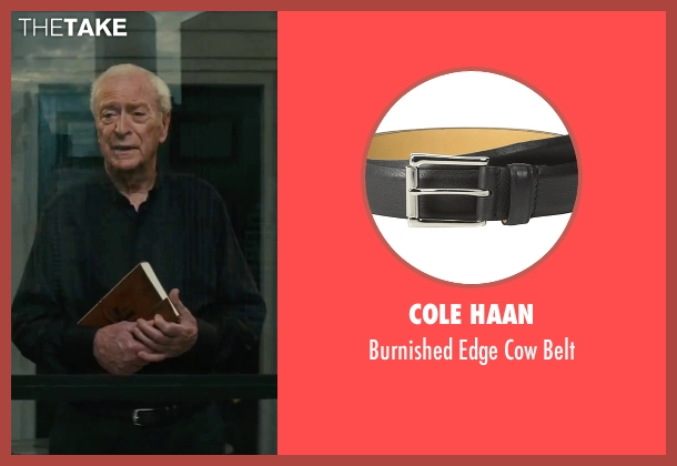 Cole Haan black belt from The Last Witch Hunter seen with Michael Caine (Father Dolan)