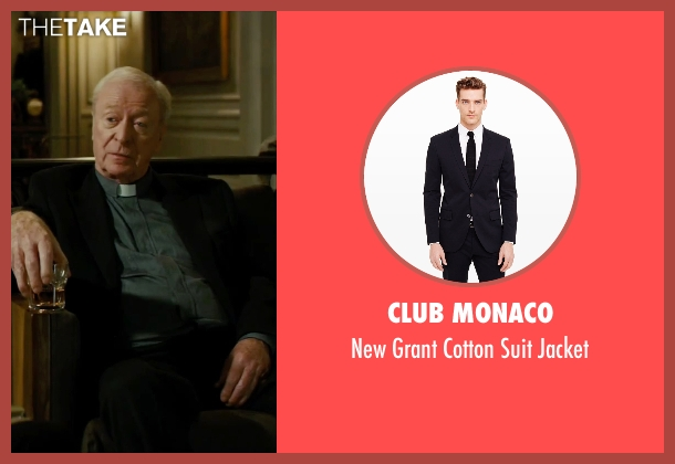 Club Monaco black jacket from The Last Witch Hunter seen with Michael Caine (Father Dolan)