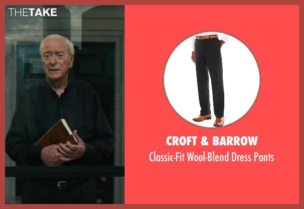 Croft & Barrow black pants from The Last Witch Hunter seen with Michael Caine (Father Dolan)