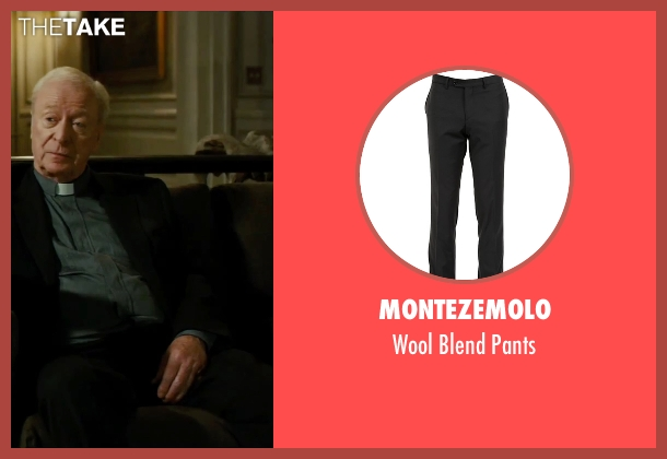 Montezemolo black pants from The Last Witch Hunter seen with Michael Caine (Father Dolan)