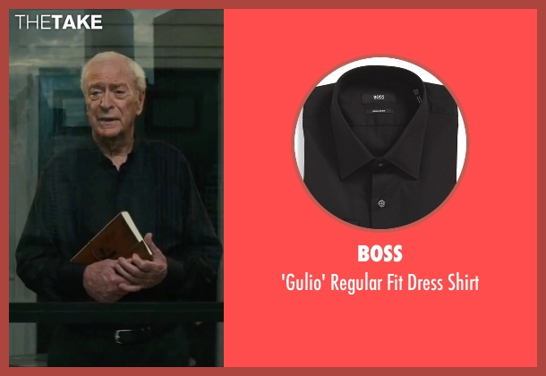 Boss black shirt from The Last Witch Hunter seen with Michael Caine (Father Dolan)