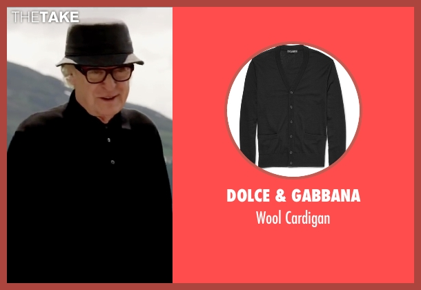 Dolce & Gabbana black cardigan from Youth seen with Michael Caine (Fred Ballinger)