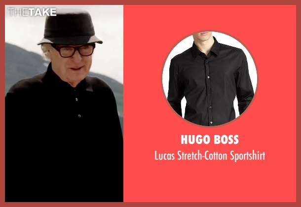 Hugo Boss black sportshirt from Youth seen with Michael Caine (Fred Ballinger)