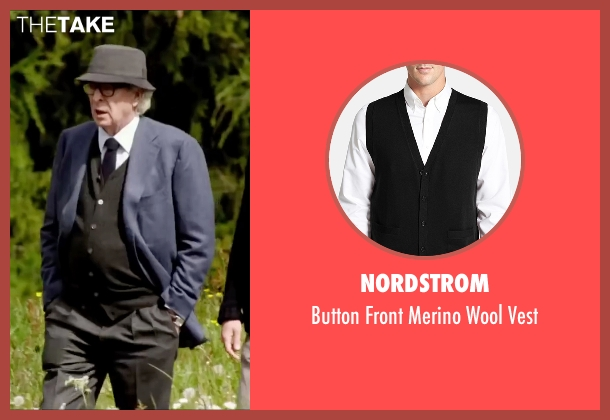 Nordstrom black vest from Youth seen with Michael Caine (Fred Ballinger)