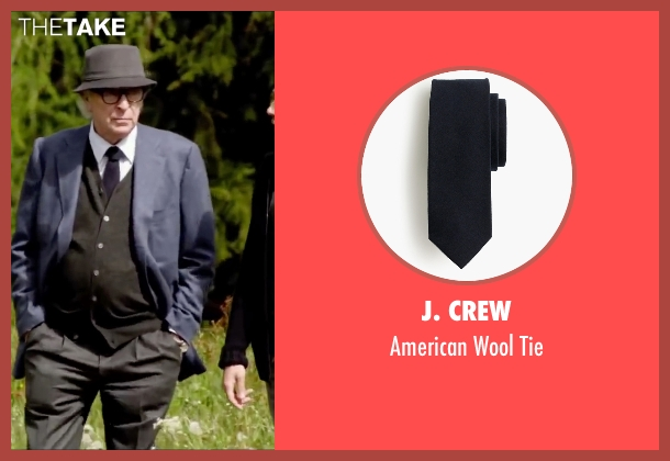 J. Crew blue tie from Youth seen with Michael Caine (Fred Ballinger)