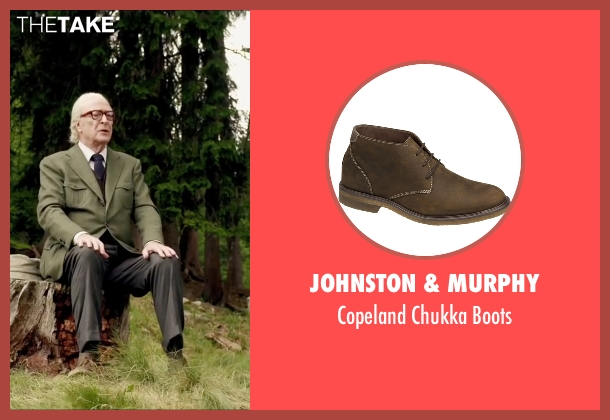 Johnston & Murphy brown boots from Youth seen with Michael Caine (Fred Ballinger)