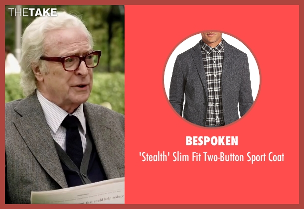 Bespoken gray coat from Youth seen with Michael Caine (Fred Ballinger)