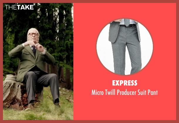 Express gray pant from Youth seen with Michael Caine (Fred Ballinger)