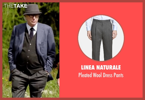 Linea Naturale gray pants from Youth seen with Michael Caine (Fred Ballinger)