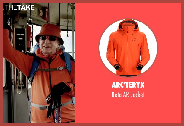 Arc'teryx orange jacket from Youth seen with Michael Caine (Fred Ballinger)