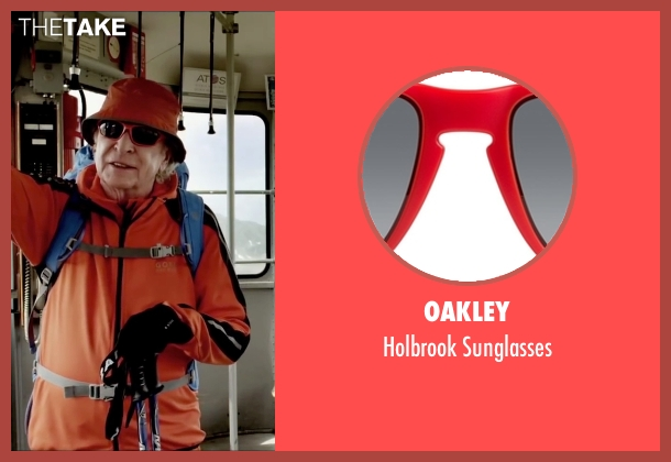 Oakley red sunglasses from Youth seen with Michael Caine (Fred Ballinger)