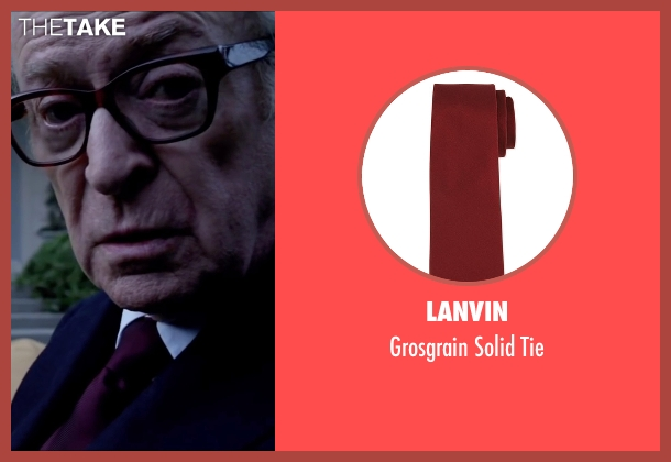 Lanvin red tie from Youth seen with Michael Caine (Fred Ballinger)