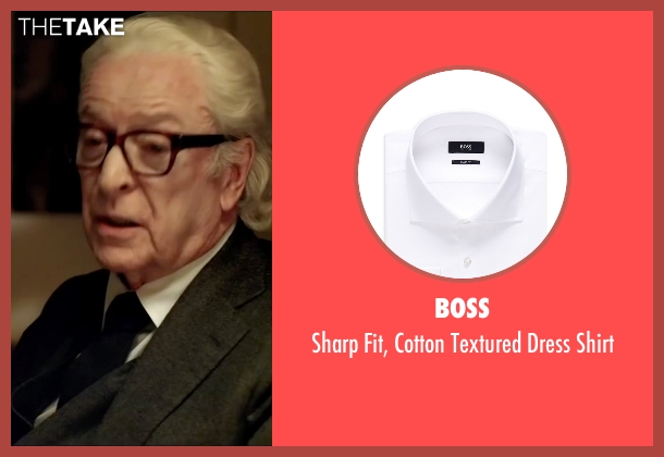Boss white shirt from Youth seen with Michael Caine (Fred Ballinger)