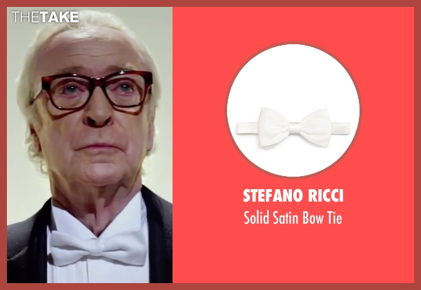 Stefano Ricci white tie from Youth seen with Michael Caine (Fred Ballinger)