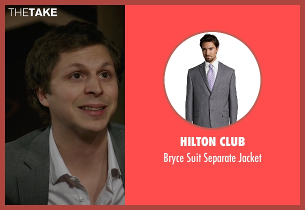 Hilton Club gray jacket from A Very Murray Christmas seen with Michael Cera