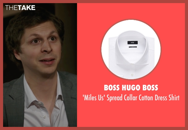 Boss Hugo Boss white shirt from A Very Murray Christmas seen with Michael Cera