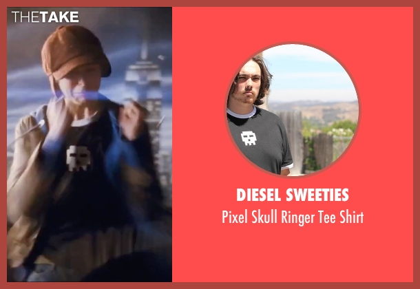 Diesel Sweeties black shirt from Scott Pilgrim Vs. The World seen with Michael Cera (Scott Pilgrim)