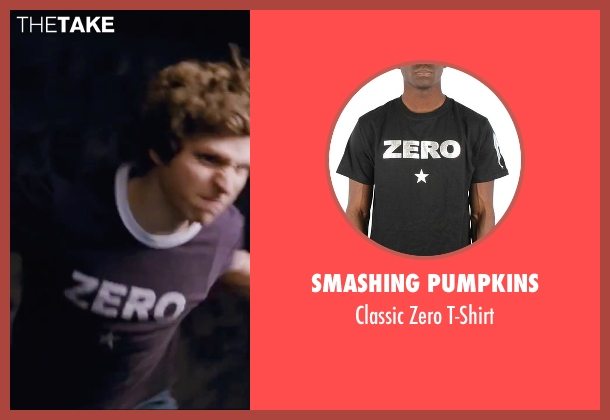 Smashing Pumpkins black t-shirt from Scott Pilgrim Vs. The World seen with Michael Cera (Scott Pilgrim)