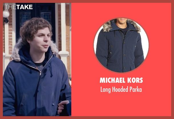 Michael Kors blue parka from Scott Pilgrim Vs. The World seen with Michael Cera (Scott Pilgrim)