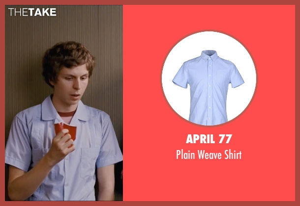 April 77 blue shirt from Scott Pilgrim Vs. The World seen with Michael Cera (Scott Pilgrim)