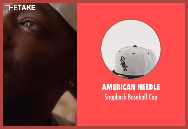 American Needle white cap from Top Five seen with Michael Che (Paul)