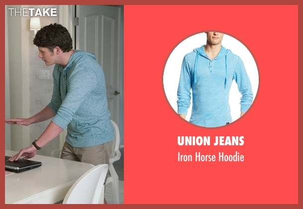 Union Jeans  blue hoodie from Jane the Virgin seen with Michael Cordero Jr. (Brett Dier)