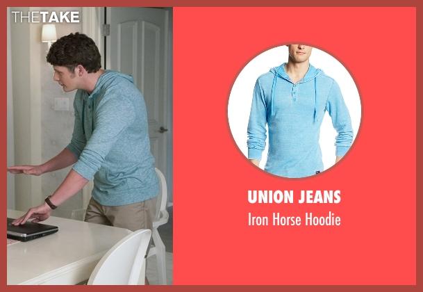 Union Jeans blue hoodie from Jane the Virgin seen with Michael Cordero Jr. (Brett Dier)