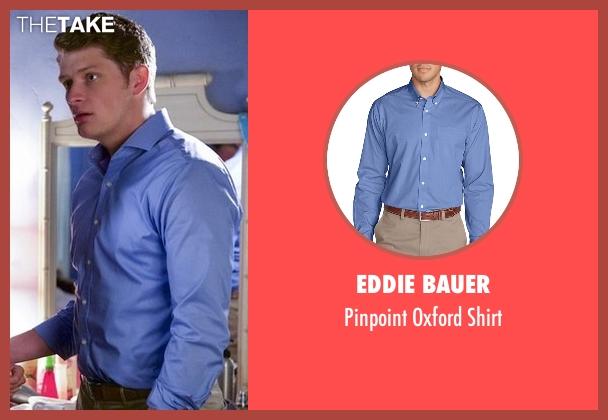 Eddie Bauer blue shirt from Jane the Virgin seen with Michael Cordero Jr. (Brett Dier)