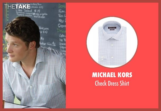 Michael Kors blue shirt from Jane the Virgin seen with Michael Cordero Jr. (Brett Dier)