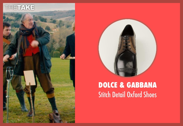 Dolce & Gabbana black shoes from Mortdecai seen with Michael Culkin (Sir Graham Archer)