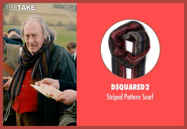 Dsquared2 blue scarf from Mortdecai seen with Michael Culkin (Sir Graham Archer)