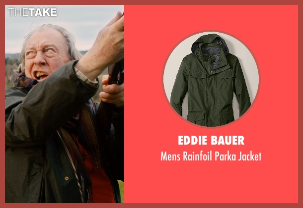 Eddie Bauer green jacket from Mortdecai seen with Michael Culkin (Sir Graham Archer)