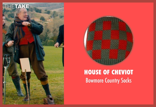 House of Cheviot green socks from Mortdecai seen with Michael Culkin (Sir Graham Archer)
