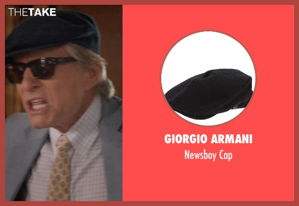GIORGIO ARMANI black cap from And So It Goes seen with Michael Douglas (Oren Little)